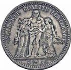 Photo numismatique  ARCHIVES VENTE 2016-19 oct MODERNES FRANÇAISES 2ème RÉPUBLIQUE (24 février 1848-2 décembre 1852)  540- 5 francs, Paris 1849.