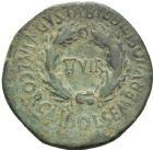 Photo numismatique  MONNAIES MONNAIES IBÉRIQUES BILBILIS (Cerro de la Bambola, Catalogne)  As d'Auguste.