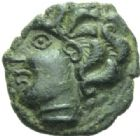 Photo numismatique  MONNAIES GAULE - CELTES AMBIANI (Bassin de la Somme)  Bronze à la grande rosace.