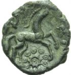 Photo numismatique  MONNAIES IBERIE- GAULE - CELTES AMBIANI (Bassin de la Somme)  Bronze à la grande rosace.