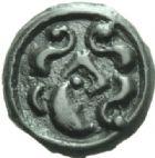 Photo numismatique  MONNAIES GAULE - CELTES SUESSIONES (région de Soissons)  Potin au sanglier.