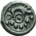 Photo numismatique  MONNAIES IBERIE- GAULE - CELTES SUESSIONES (région de Soissons)  Potin au sanglier.
