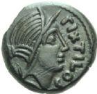 Photo numismatique  MONNAIES IBERIE- GAULE - CELTES AULERQUES EBUROVICES (région d'Evreux)  Bronze de Pixtilos.