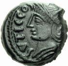 Photo numismatique  MONNAIES IBERIE- GAULE - CELTES VELIOCASSES (Vexin normand)  Bronze de Sutticos.