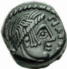 Photo numismatique  MONNAIES IBERIE- GAULE - CELTES AULERQUES EBUROVICES (région d'Evreux)  Bronze eu temple de Pixtilos.