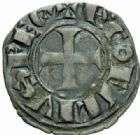 Photo numismatique  MONNAIES BARONNIALES Comté de TOULOUSE ALPHONSE de France (1249-1271) Denier.