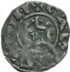 Photo numismatique  MONNAIES BARONNIALES Seigneurie de SAINT-AIGNAN ANONYMES (XIIe siècle) Denier vers 1170-1180).