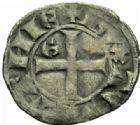 Photo numismatique  MONNAIES BARONNIALES Duché d'AQUITAINE EDOUARD III (1327-1362) Denier au léopard, Bordeaux.