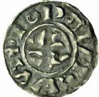 Photo numismatique  MONNAIES BARONNIALES Royaume de BOURGOGNE - monnayage comtal Comté de SCODINGUE - OTTE-GUILLAUME (986-1026) Denier, Lons-le-Saunier.
