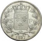 Photo numismatique  MONNAIES MODERNES FRANÇAISES CHARLES X (16 septembre 1824-2 août 1830)  5 francs, Paris, 1827.