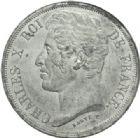 Photo numismatique  MONNAIES MODERNES FRANÇAISES CHARLES X (16 septembre 1824-2 août 1830)  Essai de 5 francs par Barye.
