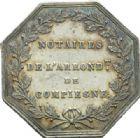 Photo numismatique  JETONS PÉRIODE MODERNE NOTAIRES COMPIEGNE (Oise) Jeton.