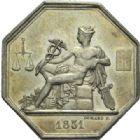 Photo numismatique  JETONS PERIODE MODERNE PROFESSIONS JUDICIAIRES Commissaires experts du gouvernement Jeton.