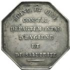 Photo numismatique  JETONS PERIODE MODERNE MEDECINE, SANTE Conseil dép. d'hygiène et de salubrité de Seine-et-Oise Jeton.