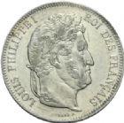 Photo numismatique  MONNAIES MODERNES FRANÇAISES LOUIS-PHILIPPE Ier (9 août 1830-24 février 1848)  5 francs, Lille, 1841.