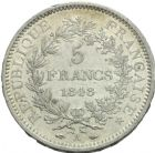 Photo numismatique  MONNAIES MODERNES FRANÇAISES 2ème RÉPUBLIQUE (24 février 1848-2 décembre 1852)  5 francs, Paris, 1848.