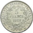 Photo numismatique  MONNAIES MODERNES FRANÇAISES 2ème RÉPUBLIQUE (24 février 1848-2 décembre 1852)  5 francs, Paris, 1849.