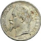 Photo numismatique  MONNAIES MODERNES FRANÇAISES NAPOLEON III, empereur (2 décembre 1852-1er septembre 1870)  5 francs, Paris, 1868.