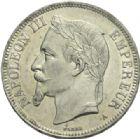 Photo numismatique  MONNAIES MODERNES FRANÇAISES NAPOLEON III, empereur (2 décembre 1852-1er septembre 1870)  5 francs, Paris, 1870.