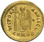 Photo numismatique  MONNAIES EMPIRE BYZANTIN ANASTASE Ier (491-518)  Solidus, Constantinople.