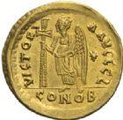 Photo numismatique  MONNAIES EMPIRE BYZANTIN ANASTASE Ier (491-518)  Solidus, Constantinople.
