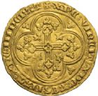 Photo numismatique  MONNAIES ROYALES FRANCAISES PHILIPPE VI DE VALOIS(1er avril 1328-22 août 1350)  Ecu d'or à la chaise. 1e émission.