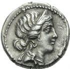 Photo numismatique  MONNAIES RÉPUBLIQUE ROMAINE JULES CESAR (100-44)  Denier, Afrique, 47/46.