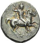 Photo numismatique  MONNAIES GRÈCE ANTIQUE Italie - Calabre Tarente sous Pyrrhus d'Epire (281-272) Statère.