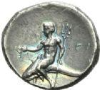 Photo numismatique  MONNAIES GRECE ANTIQUE Italie - Calabre Tarente sous Pyrrhus d'Epire (281-272) Statère.