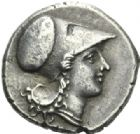 Photo numismatique  MONNAIES GRECE ANTIQUE SICILE Syracuse Règne d'Agathoclès (317-289) Statère de 8 litrae.