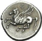 Photo numismatique  MONNAIES GRÈCE ANTIQUE SICILE Syracuse Règne d'Agathoclès (317-289) Statère de 8 litrae.