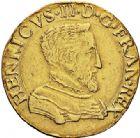 Photo numismatique  VENTE 7 juin 2017 - Coll Fr. Beau et divers Fr. BEAU - ROYALES FRANCAISES HENRI II (31 mars 1547-10 juillet 1559)  1-Double Henri d'or du 1er type, Rouen, 1558.