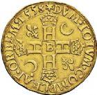 Photo numismatique  ARCHIVES VENTE 2017-7 juin - Coll Fr. Beau Fr. BEAU - ROYALES FRANCAISES HENRI II (31 mars 1547-10 juillet 1559)  1-Double Henri d'or du 1er type, Rouen, 1558.