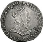 Photo numismatique  VENTE 7 juin 2017 - Coll Fr. Beau et divers Fr. BEAU - ROYALES FRANCAISES HENRI II (31 mars 1547-10 juillet 1559)  2 Teston du 1er type à la tête couronnée, Lyon, 1552.