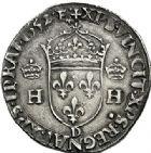Photo numismatique  ARCHIVES VENTE 2017-7 juin - Coll Fr. Beau Fr. BEAU - ROYALES FRANCAISES HENRI II (31 mars 1547-10 juillet 1559)  2 Teston du 1er type à la tête couronnée, Lyon, 1552.