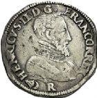 Photo numismatique  VENTE 7 juin 2017 - Coll Fr. Beau et divers Fr. BEAU - ROYALES FRANCAISES HENRI II (31 mars 1547-10 juillet 1559)  4 Teston du 2ème type, Bordeaux, 1557.