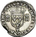 Photo numismatique  ARCHIVES VENTE 2017-7 juin - Coll Fr. Beau Fr. BEAU - ROYALES FRANCAISES HENRI II (31 mars 1547-10 juillet 1559)  7 Teston du 2ème type, Bourges, 1554.
