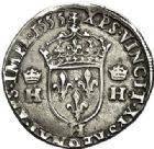 Photo numismatique  ARCHIVES VENTE 2017-7 juin - Coll Fr. Beau Fr. BEAU - ROYALES FRANCAISES HENRI II (31 mars 1547-10 juillet 1559)  9 Teston du 2ème type, La Rochelle, 1555.