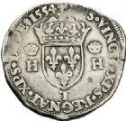 Photo numismatique  VENTE 7 juin 2017 - Coll Fr. Beau et divers Fr. BEAU - ROYALES FRANCAISES HENRI II (31 mars 1547-10 juillet 1559)  12 Teston du 2ème type, Nantes, 1554.