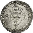 Photo numismatique  VENTE 7 juin 2017 - Coll Fr. Beau et divers Fr. BEAU - ROYALES FRANCAISES HENRI II (31 mars 1547-10 juillet 1559)  15 Teston du 2ème type, Rennes, 1554.