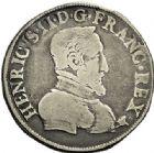 Photo numismatique  ARCHIVES VENTE 2017-7 juin - Coll Fr. Beau Fr. BEAU - ROYALES FRANCAISES HENRI II (31 mars 1547-10 juillet 1559)  18 Demi-teston du 2ème type, Saint-Lô, 1554.