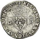 Photo numismatique  ARCHIVES VENTE 2017-7 juin - Coll Fr. Beau Fr. BEAU - ROYALES FRANCAISES HENRI II (31 mars 1547-10 juillet 1559)  19 Teston du 2ème type, Toulouse, 1553.