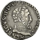 Photo numismatique  ARCHIVES VENTE 2017-7 juin - Coll Fr. Beau Fr. BEAU - ROYALES FRANCAISES HENRI II (31 mars 1547-10 juillet 1559)  21 Demi-teston du 2ème type, Toulouse, 1557.