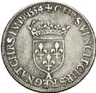 Photo numismatique  VENTE 7 juin 2017 - Coll Fr. Beau et divers Fr. BEAU - ROYALES FRANCAISES HENRI II (31 mars 1547-10 juillet 1559)  28 Demi-teston au Moulin du 4ème type, Paris, 1554.