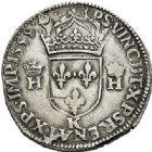 Photo numismatique  ARCHIVES VENTE 2017-7 juin - Coll Fr. Beau Fr. BEAU - ROYALES FRANCAISES FRANCOIS II (10 juillet 1559-5 décembre 1560) Monnayage au type de Henri II 41 Teston du 2ème type, Bordeaux, 1559.