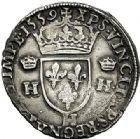 Photo numismatique  ARCHIVES VENTE 2017-7 juin - Coll Fr. Beau Fr. BEAU - ROYALES FRANCAISES FRANCOIS II (10 juillet 1559-5 décembre 1560) Monnayage au type de Henri II 43 Teston du 2ème type, La Rochelle, 1559.
