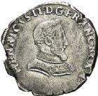 Photo numismatique  ARCHIVES VENTE 2017-7 juin - Coll Fr. Beau Fr. BEAU - ROYALES FRANCAISES FRANCOIS II (10 juillet 1559-5 décembre 1560) Monnayage au type de Henri II 44 Demi-teston du 2ème type, Lyon, 1560.