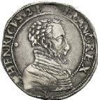 Photo numismatique  ARCHIVES VENTE 2017-7 juin - Coll Fr. Beau Fr. BEAU - ROYALES FRANCAISES FRANCOIS II (10 juillet 1559-5 décembre 1560) Monnayage au type de Henri II 45 Teston du 2ème type, Montpellier, 1560.