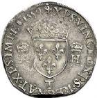 Photo numismatique  VENTE 7 juin 2017 - Coll Fr. Beau et divers Fr. BEAU - ROYALES FRANCAISES FRANCOIS II (10 juillet 1559-5 décembre 1560) Monnayage au type de Henri II 46 Teston du 2ème type, Nantes, 1559.