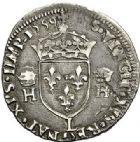 Photo numismatique  ARCHIVES VENTE 2017-7 juin - Coll Fr. Beau Fr. BEAU - ROYALES FRANCAISES FRANCOIS II (10 juillet 1559-5 décembre 1560) Monnayage au type de Henri II 49 Demi-teston du 3ème type, Bayonne, 1559.